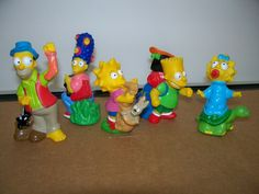 1989/1990 The Simpsons camping Burger King toys