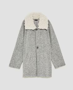 7686f8acde Image 8 of COAT WITH CONTRASTING COLLAR from Zara Zara