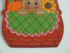 Basket gingerbread fall pumpkin sunflowers apple wall by loisling