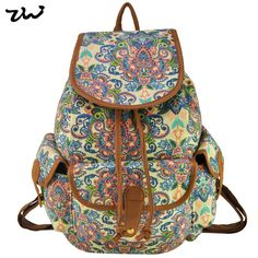 38.35$  Buy now - http://viciw.justgood.pw/vig/item.php?t=x2esb3591 - Beauty Flower Canvas Backpack Fashion School Travel Ethnic Rucksack Classic Knap