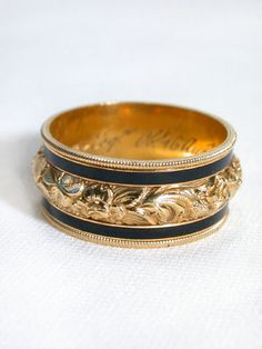 Mourning ring dated 1822 via The Three Graces