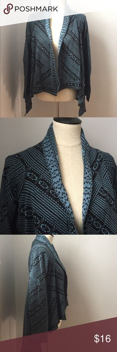 0689b36d8 Aztec Kimono Maternity Beautiful soft teal blue and black design cardigan  in excellent used condition.