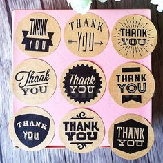 Cheap Stationery Sticker, Buy Directly from China Zakka Handmade style 9 Design Vintage Kraft Paper Thank You Circle Seal Sticker/Dia Round Paper Packaging Label Thank You Stickers, Diy Stickers, Scrapbook Stickers, Thank You Flowers, Gift Cake, Paper Packaging, Student Gifts, Office And School Supplies, Plants