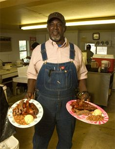 Horace Archie, pitmaster of Mt. Zion Church Bar-B-Q! Been here many times!! Absolutely a must for the bucket list!!