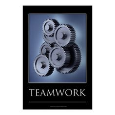 Teamwork concept with gear wheels