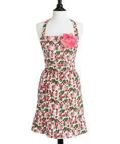 Take a look at this Berries Jubilee Courtney Bib Apron - Women by Jessie Steele on #zulily today!