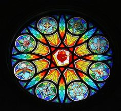 pictures of stained glass windows in churches - Google Search