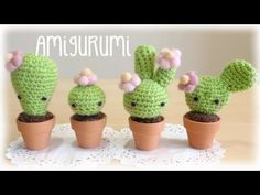 adorable cactus amigurumi video tutorial! yay!