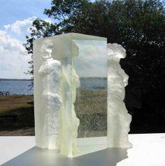 Glass casting | Ann Wolff, light in 2005; kiln cast glass; 52x35x36 cm; photo courtesy ...