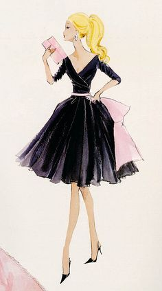 This elegant Robert Best illustration of Barbie is perfect for any lover of fashion and sophisticated style. Gallery-wrapped canvas print Pine stretcher bars