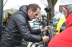 #CircuitSarthe préparation du contre-la-montre dans les rues de Belle-Beille le 6 avril. #Angers