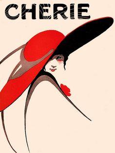 So very Edwardian chic! #Edwardian #art #illustration #hat