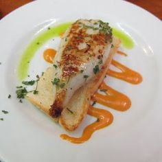 Squid stuffed with a creamy filling on toast. -Bar Munto