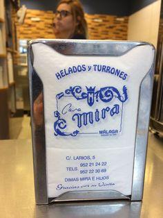 C'est pas moi qui le dit, c'est les serviettes... pour les meilleures glaces de Malaga, direction Casa Mira, Espagne