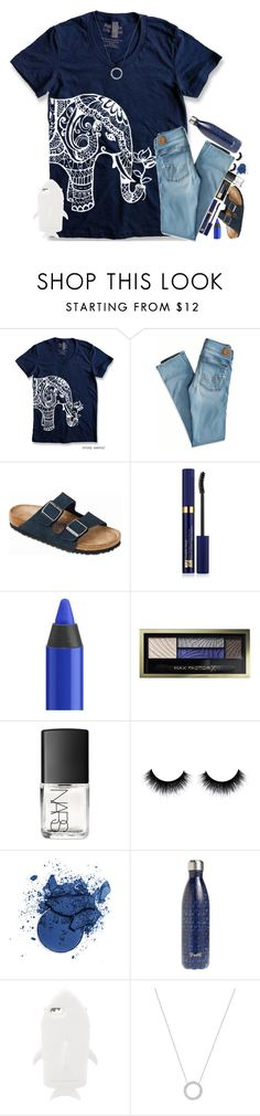 """""""Untitled #255"""" by fashion-n-o-w ❤ liked on Polyvore featuring American Eagle Outfitters, Birkenstock, Estée Lauder, Urban Decay, Max Factor, NARS Cosmetics, S'well, STELLA McCARTNEY and Michael Kors"""