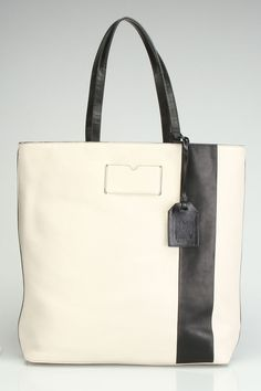 Reed Krakoff Gym Tote In Winter White.