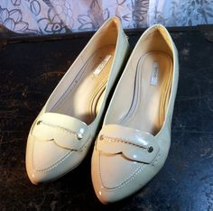 GEOX RESPIRA  Women's Shoes - Cream Slides ~ Size 6.5 - 7 M, Euro 37.5 #Geox #Slides
