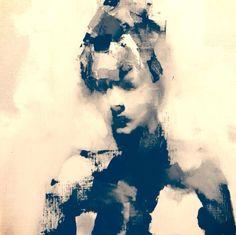 vjeranski   Paul W. Ruiz Thursday night painting at Five Walls...