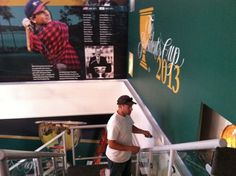 Painting the inside of the Captains Club