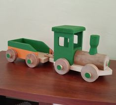 Toddler Toys, Kids Toys, Wood Log Crafts, Wood Projects, Projects To Try, Wooden Train, Wood Logs, Toy Trucks, Automata