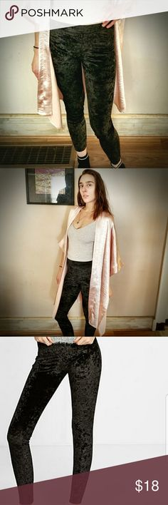 Velvet Crush High Rise Leggings ❤ Great condition. These are from express but do not have the tag anymore.  ❤Soft and stretchy. Tank top and Pink Duster also available in my store.  ❤10% off two or more items from my store. Pants Leggings