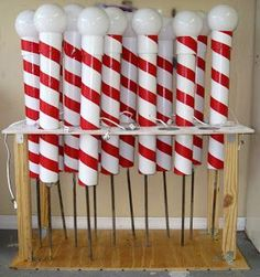 PVC & Duct tape to make North Pole that lights up