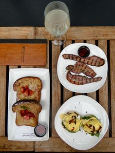 This is what we call a breakfast of champions! (P.S. you find it at Sonoma Wine Garden)