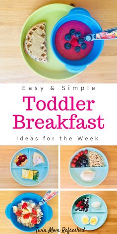 Toddler meals 419045940326851958 - Easy and quick breakfast ideas for toddlers and kids. These breakfast ideas are healthy and packed with nutrition. Great ideas for on-the-go mornings when you're busy for your toddler or child. Source by Healthy Toddler Breakfast, Healthy Toddler Meals, Quick And Easy Breakfast, Breakfast For Kids, Healthy Kids, Kids Meals, Toddler Food, Nutritious Breakfast, Baby Meals
