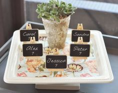 Have Fun with Chalkboard DIY Favors - Personalize and add a unique message to your #chalkboard favors