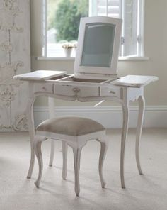 French Furniture Louis XV Style Dressing Table - This fabulous dressing table is not only practical but also a beautiful addition to any bedroom. With a sliding mirror and two sliding storage boxes its incredibly useful with several storage options. Made by the Trees4Trees foundation which supports local communities and educates about reforestation.
