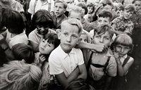 Young spectators, East Berlin by Arno Fischer
