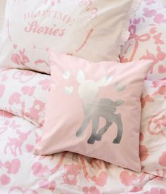 Cute pastel pink bambi pillow!