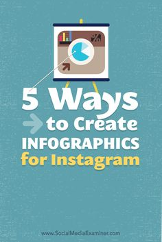 A quick guide on how to create infographics for Instagram. click and read