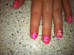 Shellac scroll and lily designs by me