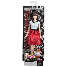 2016 Barbie Fashionistas Doll - Ruby Red Floral - Asian