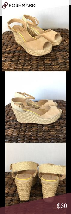 ⚡️FLASH⚡️Splendid Espadrille Wedges EUC! Worn twice on vacay. Sand colored nubuck upper vamp, ankle straps with buckle closure. Jute sole, heel. Bottoms have rubber to help protect the jute from water and moisture. Great neutral wedge. True to size. No trades. Splendid Shoes Wedges