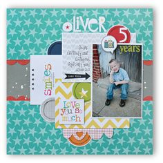 A Project by kellyrholbrook from our Scrapbooking Gallery originally submitted at PM Birthday Scrapbook, Kids Scrapbook, Scrapbook Cards, Scrapbook Layout Sketches, Scrapbooking Layouts, Picture Layouts, Scrapbooks, Deco, Card Making