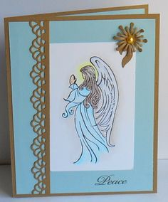 WT442 Angel by tessaduck - Cards and Paper Crafts at Splitcoaststampers