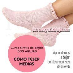 Crochet y dos agujas: CURSO DE TEJIDO DOS AGUJAS: Cómo tejer medias / ca...