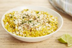 Mexican Corn Salad   - Mexican street-style corn meets corn salad in the best way.  TOTAL TIME: 0:10PREP: 0:10LEVEL: EASYSERVES: 4 INGREDIENTS  6 ears corn, kernels stripped 1/4 c. cotija cheese or feta, plus more for crumbling on top 3 tbsp. mayonnaise Juice of 2 limes 2 tbsp. chopped fresh cilantro 1 tbsp. chili powder kosher salt DIRECTIONS  In a serving bowl, toss corn with cotija, mayo, lime juice, cilantro, and chili powder. Season with salt and top with more cotija and a sprinkle of…