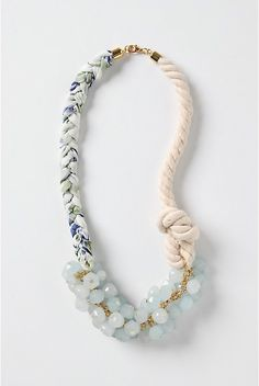 how to: re-create this Anthro necklace #diy #crafts #jewelry