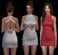 Satin Dress Fixed – Leosims.com -New