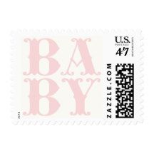 Baby Girl New Baby Announcement Postage Stamp