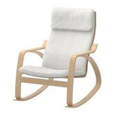 POÄNG Sedia a dondolo - Alme naturale, impiallacciatura di betulla - IKEA
