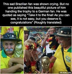 No ones published this beautiful picture of this sad Brazilian fan