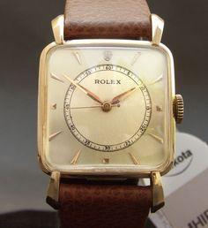 RARE 40s Vintage Rolex 'Doctor's Watch' Ref 4580 Swiss Dress Men 10K GF