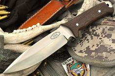 "CFK USA Custom Handmade 1 4"" Thick D2 Brown G10 Combat Tactical Fighter Knife | eBay"