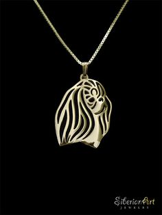 English Toy Spaniel jewelry Gold