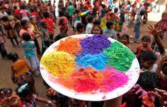 Holi Celebration #Holi #India #Spring #Colors
