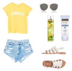 """summer vibess"" by isabelvsacre on Polyvore featuring MANGO, Melissa, Christian Dior and Neutrogena"